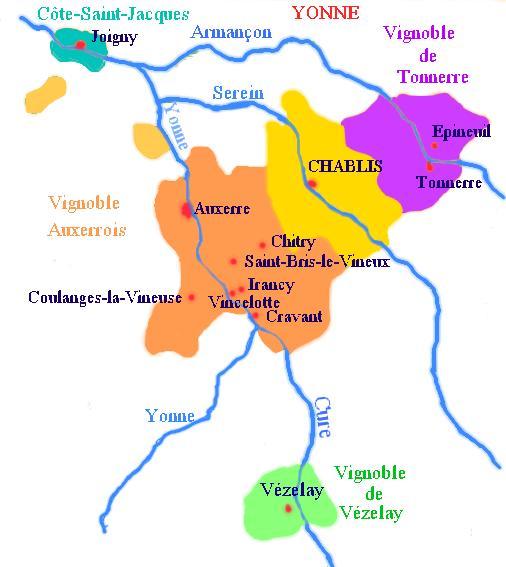 Vin bourgogne yonne for Region yonne