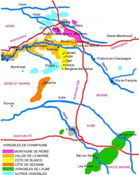Fabuleux Le vignoble / LA REGION CHAMPAGNE / Champagne / Régions / Vins  CZ89