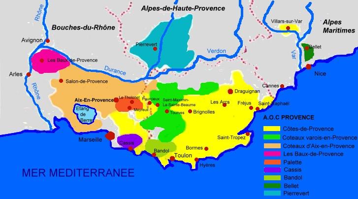 Carte provence r gion voyages cartes for Region bouche du rhone