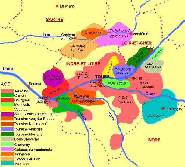 Le Vignoble Touraine Loire Regions Vins Vignesvignerons