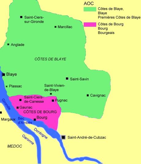 Le vignoble / Le Blayais et le Bourgeais / Bordeaux / Régions