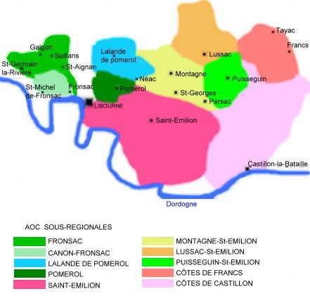 Carte Des Vins De Bordeaux Rive Droite.Le Vignoble Le Libournais Bordeaux Regions Vins