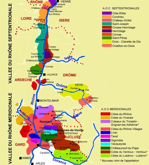 Extrêmement Le vignoble / La Région Vallée du Rhône / Vallée du rhône  VO97
